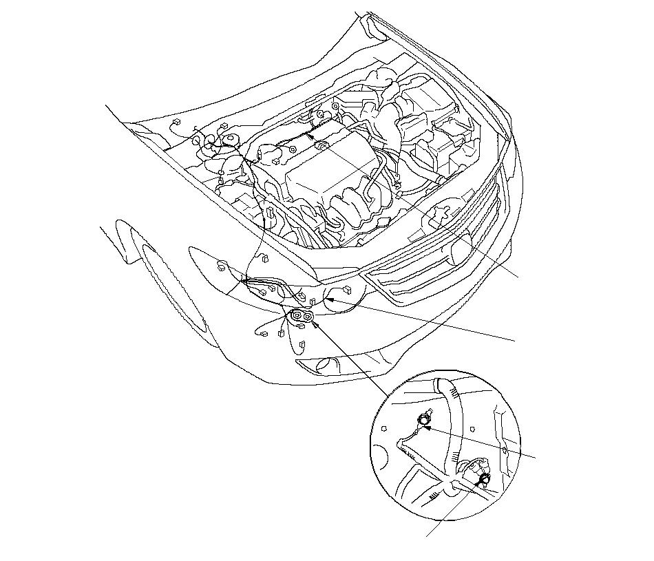 Расположение жгутов проводов в