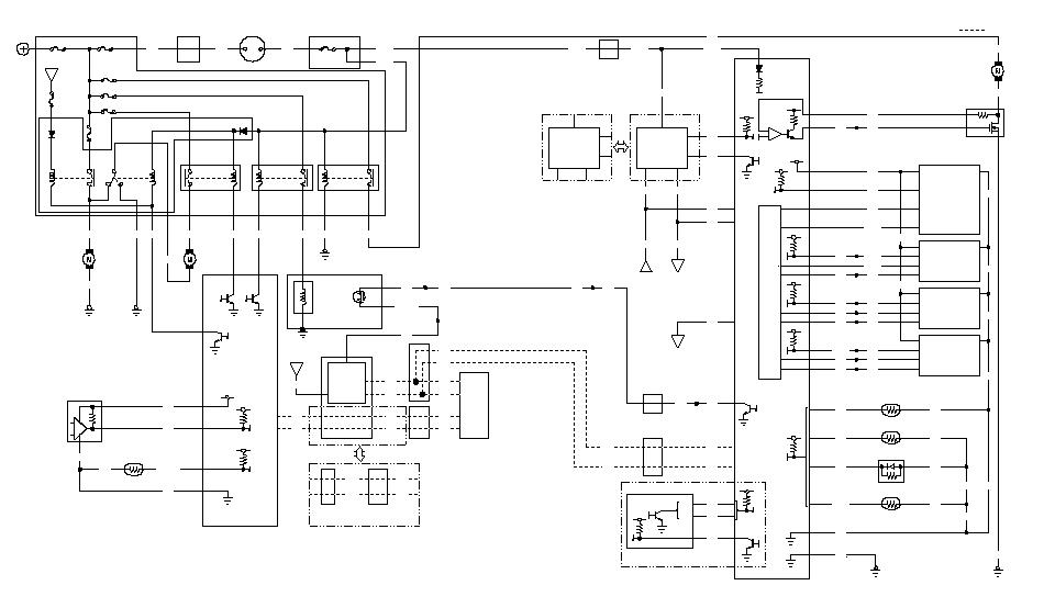 Электрическая схема цепи климат-контроля.