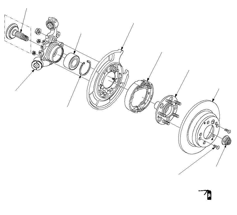 схема передней ступицы хонда црв
