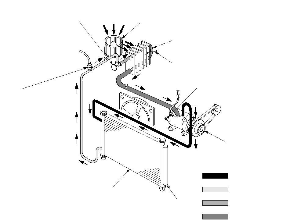Схема системы кондиционера и